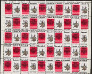 Canada - 1974 8c Pacific Coast Indians Sheet mint #573ai