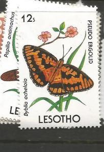 Lesotho Butterfly SC 765, 768-9, 772 MNH (5czt)