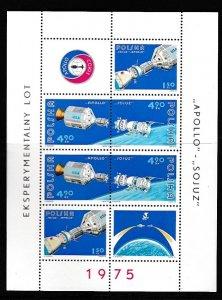 1975 Poland Scott 2107a Apollo-Soyuz MNH