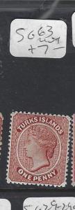 TURKS  ISLANDS (P3009B)  QV  1 D  SG     63     MOG