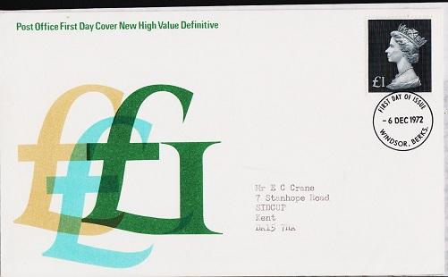 Great Britain. FDC.1972. £1. Fine Used