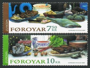Faroe 456-457,MNH. EUROPE CEPT 2005.Various traditional foods.