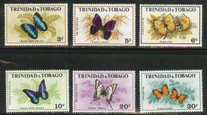Trinidad & Tobago Scott 210-215 MNH** Butterfly set CV$13.75