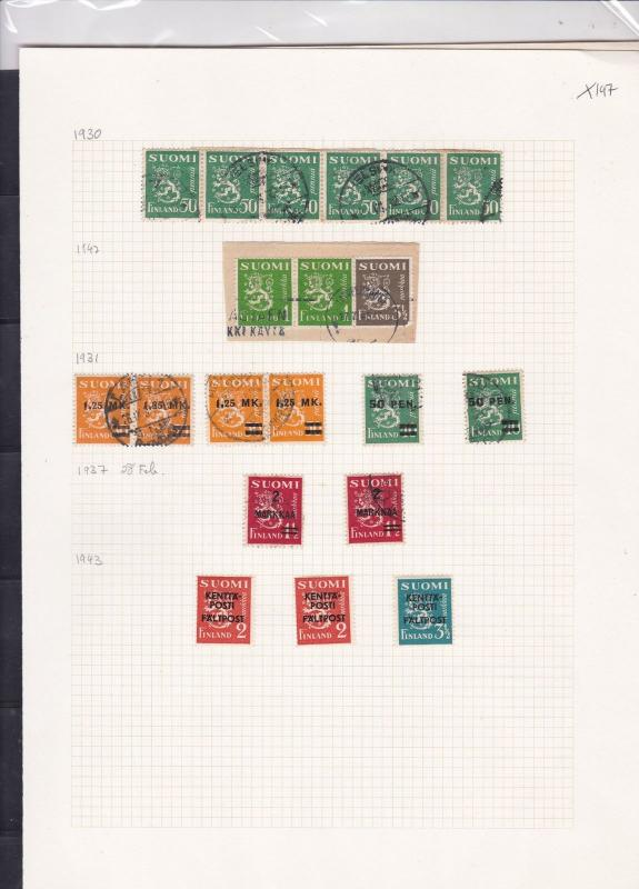 finland 1930-41  stamps page ref 18041