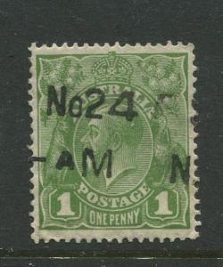 Australia-Scott 114 - KGV Definitive Issue-1931-Wmk 228 -Used -Single 1d stamp