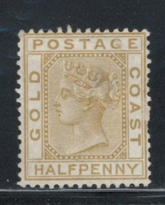 Gold Coast 1879 Queen Victoria 1/2p Scott # 4 MH NG