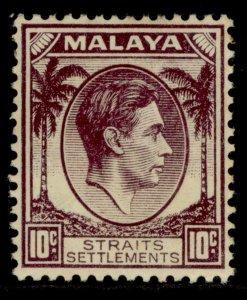 MALAYSIA - Straits Settlements GVI SG284, 10c dull purple, M MINT. Cat £16.