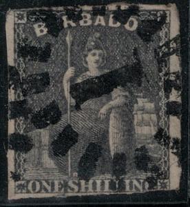 Barbados 1859 SC 9 Used SVC$ 85.00