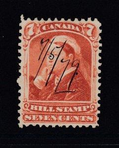 Canada (Revenue), van Dam FB44, used, thick paper