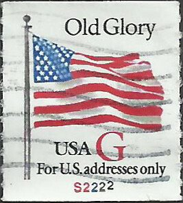 P.N.C. S2222 # 2892 USED G STAMP OLD GLORY