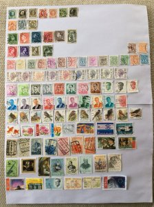 Belgium 100+ stamps - Lot A