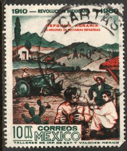 MEXICO 913, 10c 50th Anniv Mexican Revolution. Used. F-VF. (1131)