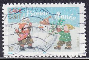 France 2845 USED 2001 Holiday Greetings
