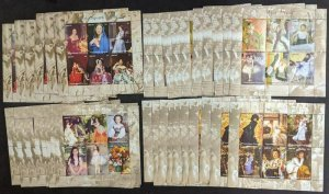 EDW1949SELL : MOZAMBIQUE 2004 Sc #1729-32 Painting 10 Cplt sets of Shlt Cat $435