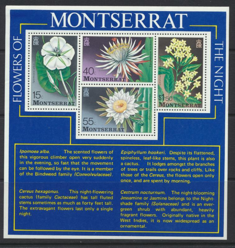 Montserrat SG MS403 SC#369A Flowers of the Night  1977