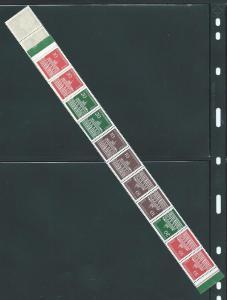 Germany Berlin 9N251-5 1966-70 Booklet strip MNH