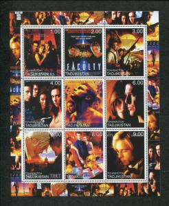 Tajikistan Commemorative Souvenir Stamp Sheet - 2000 Famous Movies