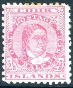COOK ISLANDS-1896-1900 2½d Pale Rose Sg 16  MOUNTED MINT V17985