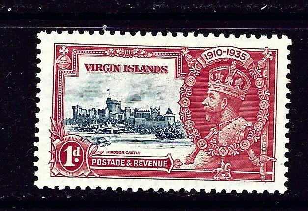 Virgin Is 69 MNH 1935 from KGV Sikver Jubilee