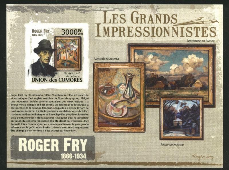 Comoro Islands MNH** Roger Fry Impressionist Art sheet