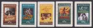 Australia Sc #1446-50 Used, Mi #1483-87