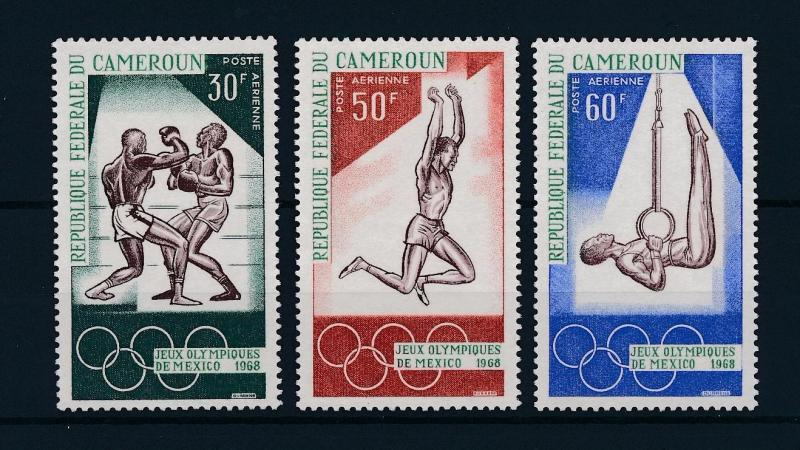 [43535] Cameroun Cameroon 1968 Olympic games Mexico Boxing Gymnastics MNH