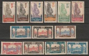 Gabon 1910-22 Sc 49/67 partial set MH*/MNG some disturbed gum