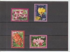 French Polynesia  Scott#  731-734  MNH  (1998 Orchids)