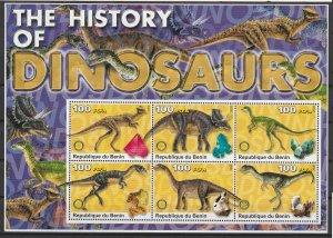 Benin MNH S/S Dinosaurs #4 2003 Large Size