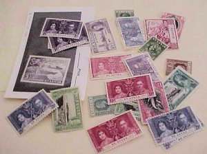 ST. LUCIA STAMPS 22 MOSTLY DIFFERENT MOSTLY MINT  LIGHT HINGED
