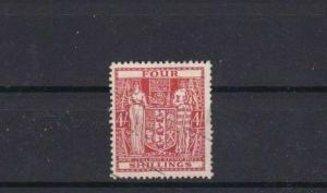NEW ZEALAND 1940 STAMP DUTY FISCAL REVENUE  STAMP 4 SHILLINGS REF 5918