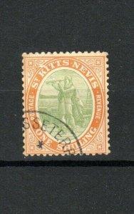 St Kitts-Nevis 1909 1s Christopher Columbus FU CDS