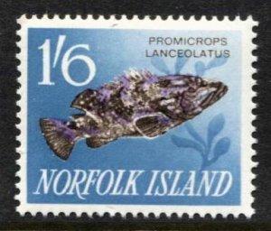 STAMP STATION PERTH Norfolk Island #58 Fish MLH -CV$2.50