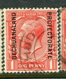 BECHUANALAND; 1927 early GV issue fine used 1d. value