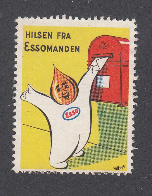 Denmark Poster Stamp  THE ESSO MAN