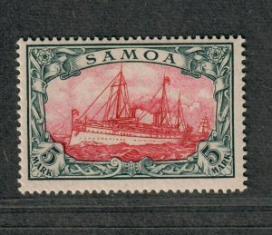 German Dominion Samoa Sc#69 M/NH/F-VF, Cv. $500