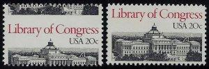 2004 - 20c Huge Misperf Error / EFO Library of Congress Mint NH
