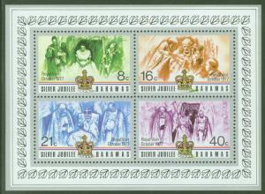 BAHAMAS Scott 405a Silver Jubilee Sheet 1977 MNH**