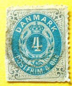 Denmark 1875 ,Royal Emblem 4ore