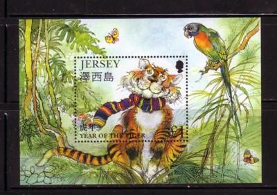 Jersey Sc 833 1998 Year of the Tiger stamp souvenir sheet mint NH