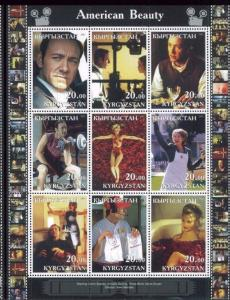 AMERICAN BEAUTY Kevin Spacey + Annette Bening - Mini Sheet MNH Kyrgyzstan - E34