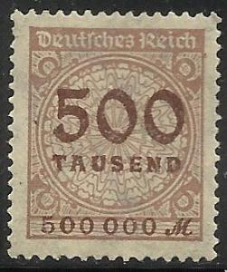 Germany 1923 Scott# 280 MH (gum disturbance)