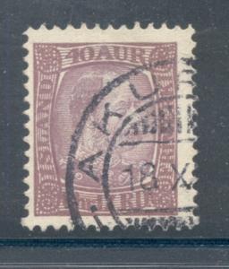 Iceland Sc 42 1902 40 aur Christian IX stamp used
