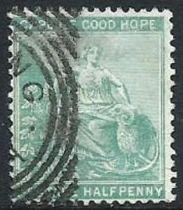 Cape of Good Hope, Sc #42, 1/2d Used