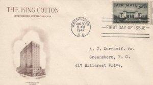 C34 10c PAN AM BLDG. AIRMAIL 1949 - The King Cotton Hotel