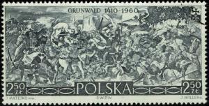 Poland 924  Used - Battle of Gruenwald (1960)