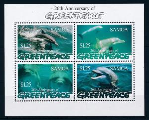 [49028] Samoa 1997 Marine life Dolphins Greenpeace MNH Sheet