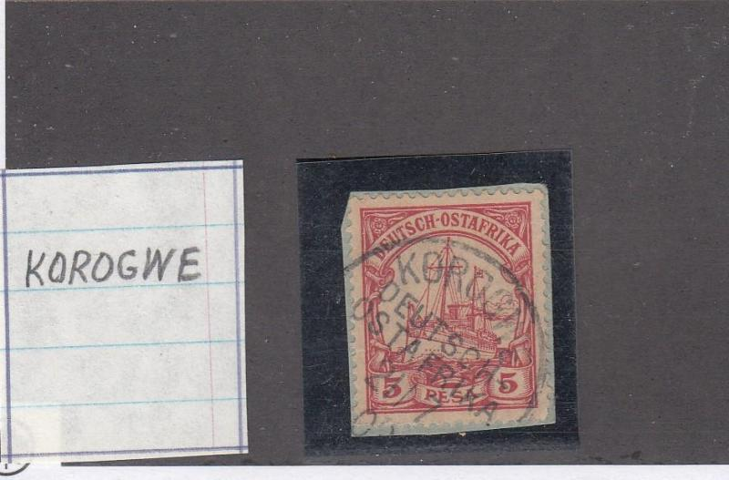 GERMAN EAST AFRICA LOT # 13 VF-KOROGWE TOWN CANCEL COLLECTED FOR PMKS