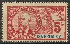 Dahomey 1906 Sc 31 MNG(*) small thin