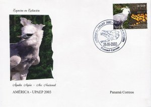 PANAMA AMÉRICA UPAEP ENDANGERED SPECIES Sc C470 FDC 2003